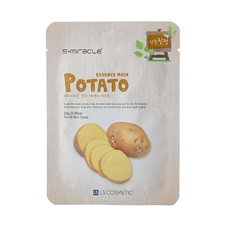 S+miracle, Маска для лица Potato Essence Mask, 25 г