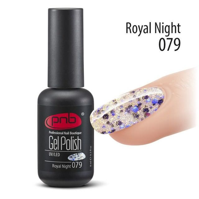 Гель-лак PNB №079 Royal Night, 8 мл