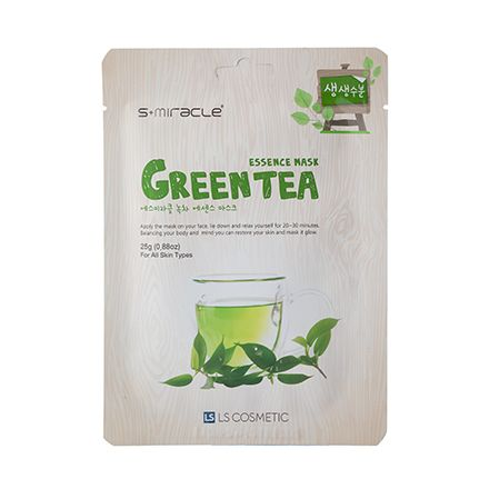 S+miracle, Маска для лица Green Tea Essence Mask, 25 г