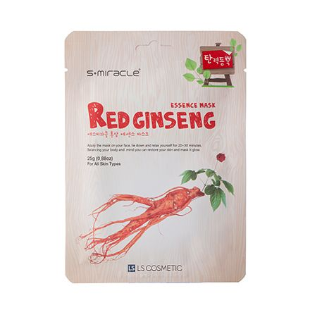 S+miracle, Маска для лица Red Ginseng Essence Mask, 25 г